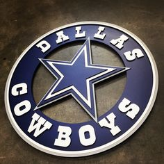 SIZES AVAILABLE: Diameter This custom wood logo is for indoor display only. Products shipped within the United States are sent via FedEx Ground/Home Delivery (tracking number provided). Dallas Cowboys Crafts, Dallas Cowboys Wreath, Dallas Cowboys Wallpaper, Cowboys Sign, Dallas Cowboys Pictures, Dallas Cowboys Baby, Dallas Cowboys Football, Cowboys Gifts, Football Memes