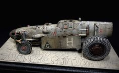 """MEsapotamian"" ME 109 Messerschmitt Land Speeder SciFi WWIII Steampunk Mad Max Ma.K. SF3D vehicles Scratch Build Kit Bash 1/32 scale by Andigo"