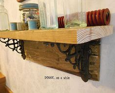 easy rustic pallet shelf, diy, pallet, repurposing upcycling, shelving ideas