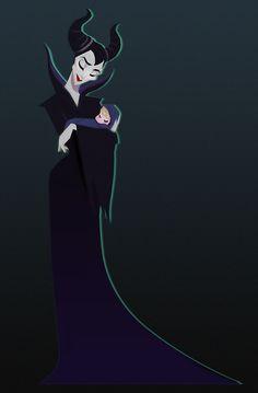 Maleficent & Aurora by Gabby Zapata Walt Disney, Disney Nerd, Disney Magic, Disney Dream, Disney Love, Disney And Dreamworks, Disney Pixar, Maleficent Drawing, Sleeping Beauty Maleficent