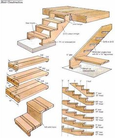 Landscape ideas stairs How to build stairs and deck steps .-Landschaftsideen Treppe Wie man Treppen und Decksstufen baut … – Holz DIY Ideen Landscape ideas stairs How to build stairs and deck steps …, levels ideas - Deck Design, Landscape Design, Garden Design, Landscape Stairs, Steps Design, Design Ideas, House Landscape, House Design, Design Inspiration