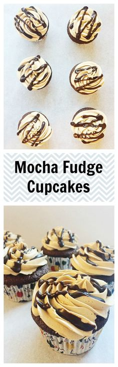 Mocha Fudge Cupcakes - My Frosted Life Cupcake Recipes, Baking Recipes, Cupcake Cakes, Dessert Recipes, Cupcake Flavors, Cup Cakes, Yummy Treats, Sweet Treats, Yummy Food