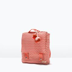 PRINTED FABRIC BACKPACK-Accessories-Baby girl (3 months - 3 years)-KIDS | ZARA United States
