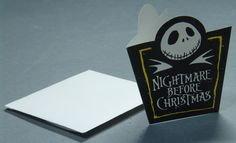 Nightmare Before Christmas Notecards With Envelopes