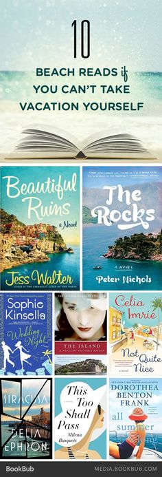 10 exotic beach reads if you can't take vacation yourself.