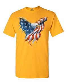 Eagle USA Flag T-shirt 4th of July Shirts: Clothing