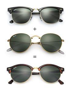 e021696fe4e New Ray-Ban Clubround sunglasses  smartbuyglasses Ray Ban Damen