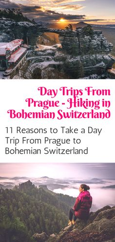 Hiking in Bohemian Switzerland: 11 reasons to take a day trip from Prague to explore the stunning Bohemian Switzerland national park! Click here for more info!