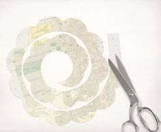 cut out paper rose template by idoityourself, via Flickr