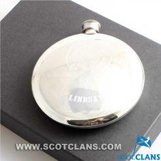 Lindsay Clan Crest Sporran Flask