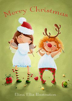 A5 Christmas Card by elinaellis on Etsy, £2.50