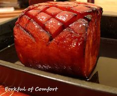 Forkful of Comfort: Root Beer Glazed Ham