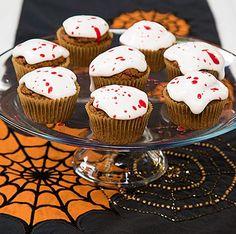 Pistachio-Orange Blood Splattered Cupcakes