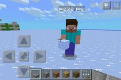 Playing minecraft with Pizza Pie