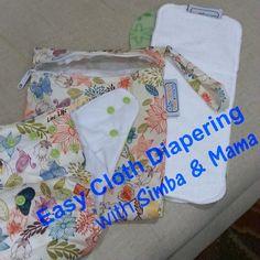 Easy Cloth Diapering with #SimbaandMama #gogreen #savemoney #makeclothmainstream