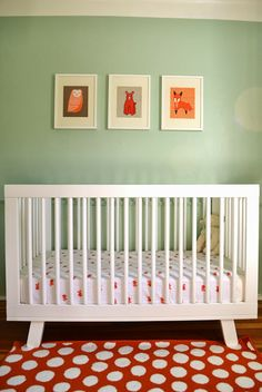 L'obsession du jour: Henry's Orange & Mint Nursery with Babyletto Hudson 3-in-1 Convertible Crib