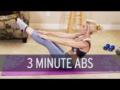 3 Minute Ab Workout - YouTube