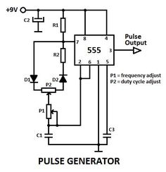555 variable pulse generator