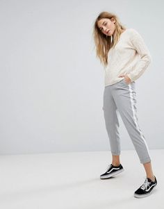 Pull&Bear PANTS With Side Stripe - Gray