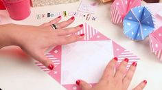 Tuto origami : Cocotte en papier on Vimeo Just Married, Creations, Printables, Crafty, Paper, Fun, French Class, Petra, Bridesmaids