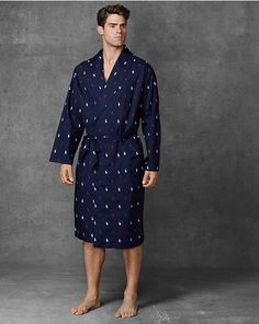 1c1d0227af1 Allover Pony Shawl-Collar Robe - Sleepwear Underwear   Sleepwear -  RalphLauren.com