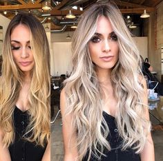 Transformation by hairerik Pre-toned with Fanola No Yellow Shampoo Honey Blonde Hair, Balayage Hair Blonde, Blonde Hair With Dark Eyebrows, Baylage Blonde, Yellow Blonde Hair, Icy Blonde, Brunette To Blonde, Frontal Hairstyles, Permed Hairstyles