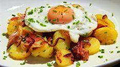 Vyzkoušejte tyrolské Gröstle! Ezekiel Bread, No Salt Recipes, Gnocchi Recipes, Fruits And Vegetables, Bon Appetit, Sprouts, Food And Drink, Healthy Eating, Eggs