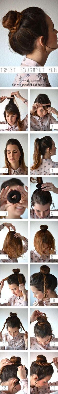 #DIY Twist Doughnut Bun Hairstyle