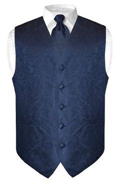 Men's Paisley Design Dress Vest & NeckTie NAVY BLUE Color Neck Tie Set, http://www.amazon.com/dp/B008XDUBWS/ref=cm_sw_r_pi_awdm_x_81y4xbYRKS7JT