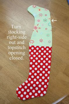 The simplest way to sew a lined stocking #sew