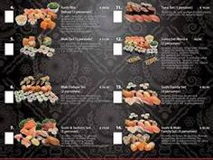 De menukaart van Sumo. De kaart ziet er erg overzichtelijk uit.