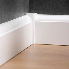 CanDo binnenhoek voor plinten the past vorher nachher möbel Baseboard Styles, Baseboard Trim, Baseboard Ideas, Home Renovation, Home Remodeling, Moldings And Trim, Crown Molding, Corner Moulding, Door Trims