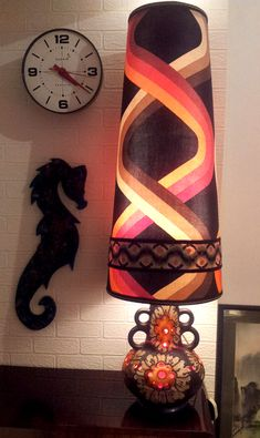 1960s-70s West German Lamp & Shade. I am speechless - totally over the top! crazy