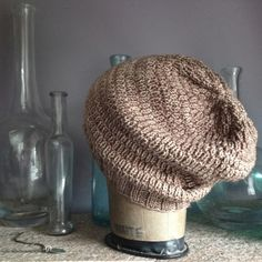 This slouchy knit hat pattern is a great way to add instant cool factor to your wardrobe.