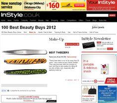 Best Tweezers: Tweezerman! InStyle UK Best Beauty Buys 2012