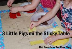 Sensory and Science Explorations with The 3 Little Pigs