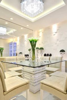 homes interior ideas House, Dining Room Design, Dinning Room, House Plans, Elegant Dining, House Interior, Sweet Home, Kitchen Design, Living Room Designs