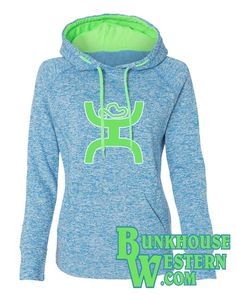 Add some flair to your style in this Ladies' Cosmic Poly Contrast Hooded Pullover Sweatshirt by J. Made from a quality spun polyester fleck fleece, this hoodie is Fleece Hoodie, Pullover, Mens Sweatshirts, Hoodies, Monogram Sweatshirt, Country Outfits, Western Wear, Online Shopping Clothes, My Style