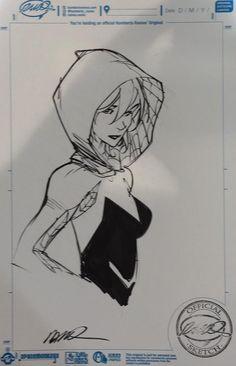Spider-Gwen Con Sketch by Humberto Ramos