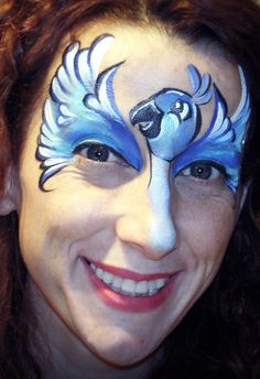 """""""Rio 2″ Inspired Blue Macaw Face Paint Design VIDEO Tutorial—Face Painting Tips Shop"""