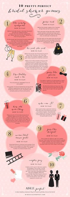 My fellow wedding enthusiasts, this infographic will save you many fights in the future. Check out 10 go-to bridal shower games for your next bridesmaid role. As a professional bridesmaid, I take bridal showers very seriously. One of the major things to t Dream Wedding, Wedding Day, Wedding Bride, Wedding Photos, Party Wedding, Trendy Wedding, Wedding Table, Wedding Tips, Bride Groom