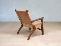 Sustainably sourced hardwood framed lounge chair wrapped in hand cut Barley colored leather. A classic and ultra comfortable lounge chair.