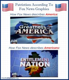 Fox News loves America, except for those pesky Americans that live there.