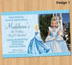 cinderella birthday invitation birthday parties pinterest