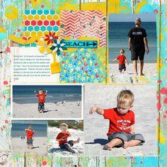 """Nicholas at St. Pete Beach "" Digital Scrapbook Layout by Joyce Schardt"