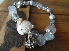 Sleepy Bunny Bracelet Christmas Bracelet Snow by FeminineGenius