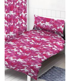 Pink Camouflage Single Duvet Cover and Pillowcase Set Duvet Cover Sizes, Duvet Covers, Camouflage Wallpaper, Army Bedroom, Army Camouflage, Single Duvet Cover, Bedroom Themes, Main Colors, Comforters