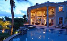 #amazing #architecture #beautiful #classy #design #Dream #expensive #exterior #heaven #home #house #lifestyle #lights #luxurious #luxury #mansion #nature #night #palmtree #paradise #photography #place #pool #pretty #rich #scenery #summer #villa