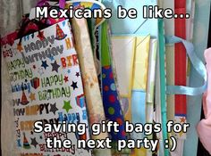 Mexicans are all about recycling!