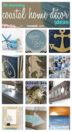 Catching the coastal fever? Here are 20 great ideas to bring the coastal look into your home!